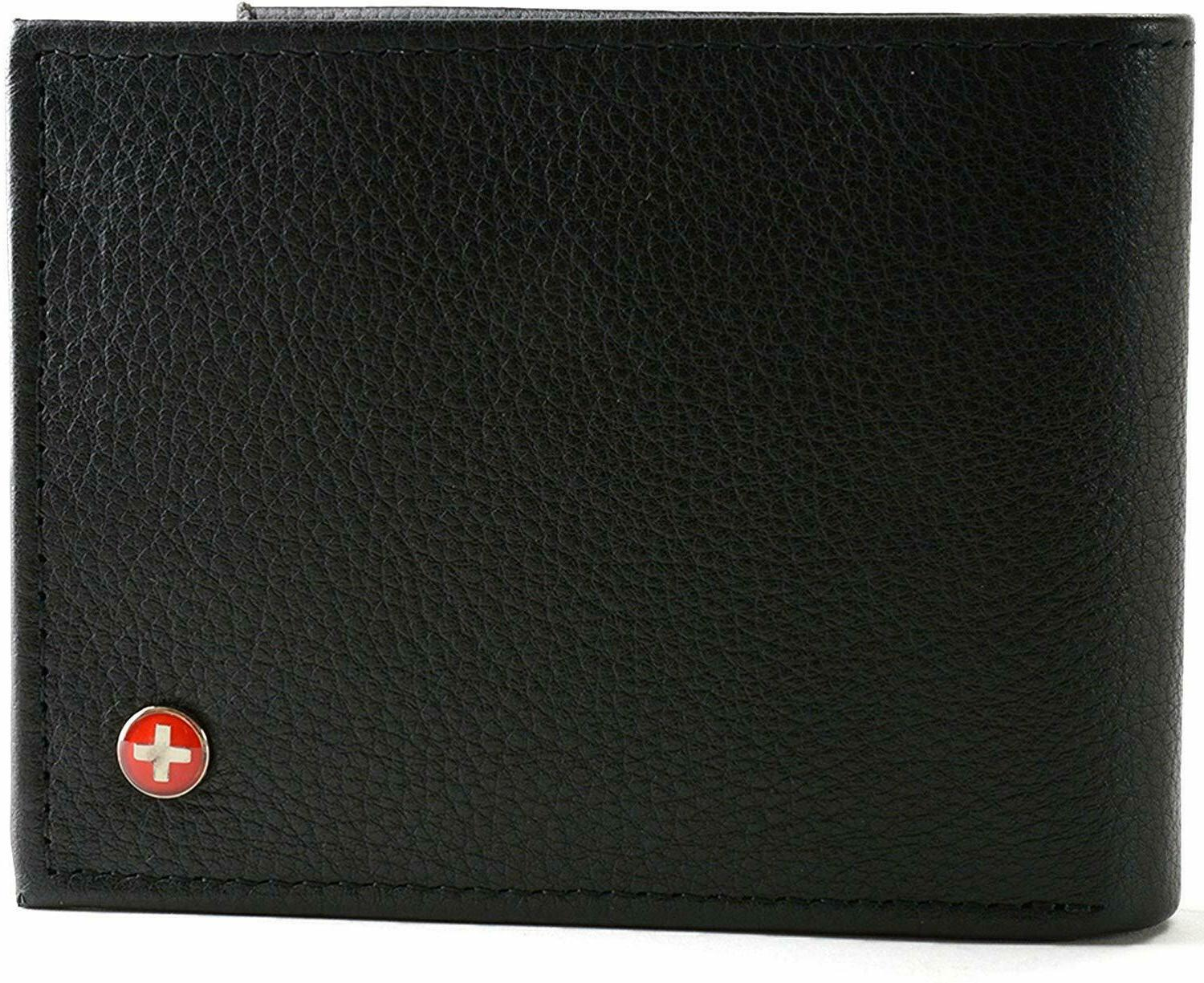 wallet real leather bifold trifold