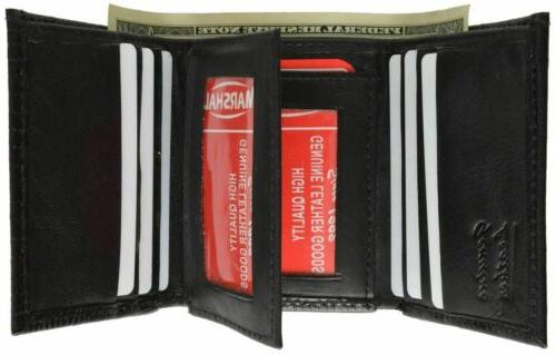 Wallets Mens Trifold Crocodile Embossed Credit