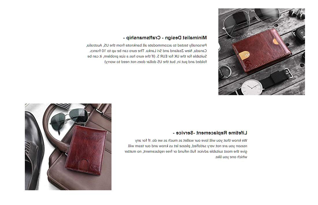 Wallets Mens Front Leather