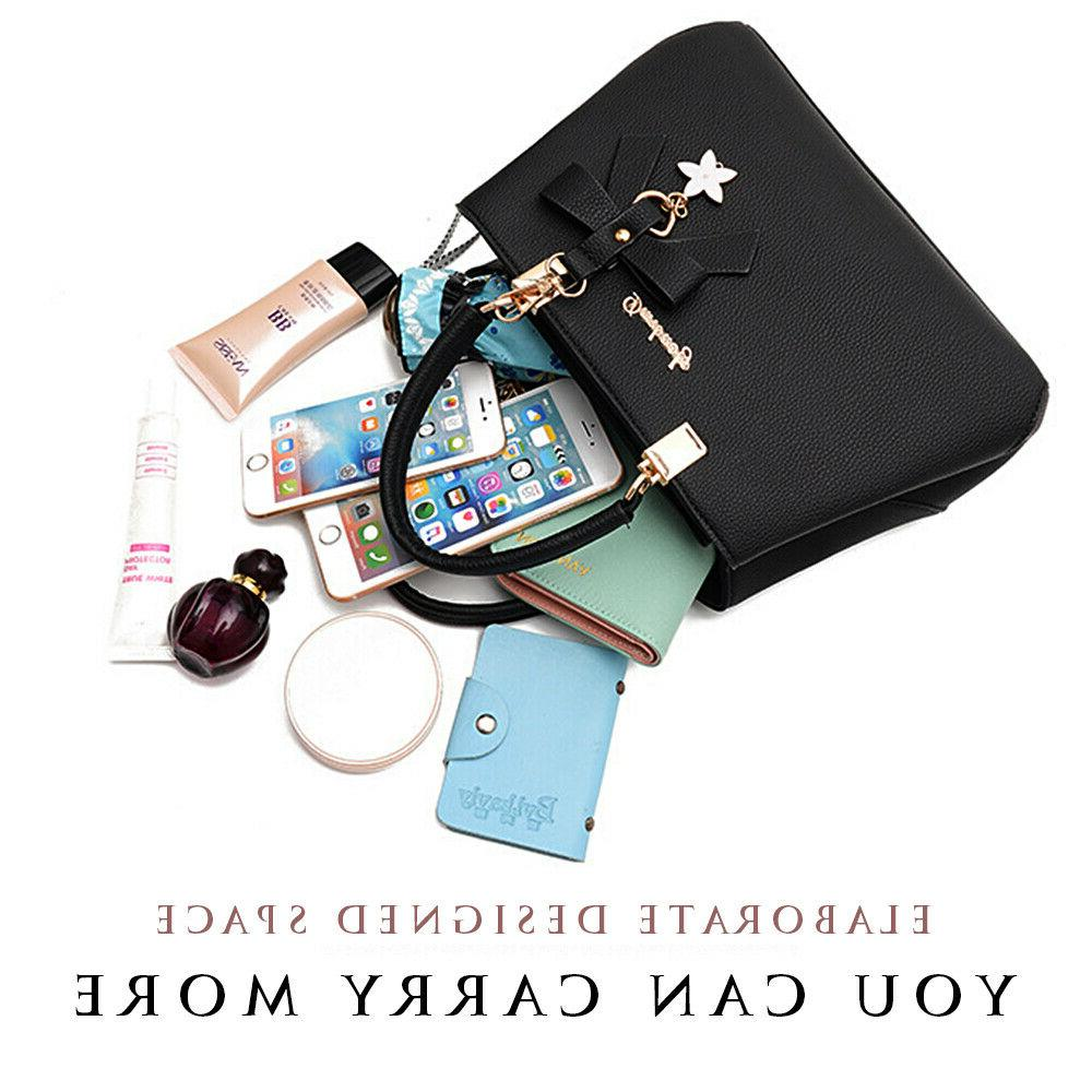 Women Shoulder Tote Bag Leather Ladies