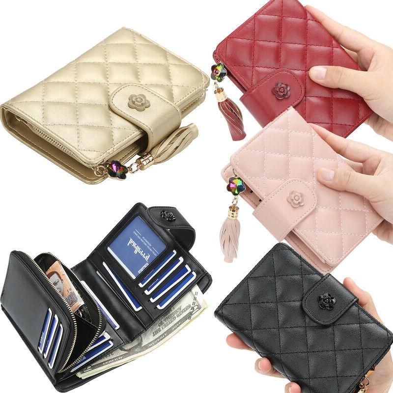 women ladies leather wallets small bifold