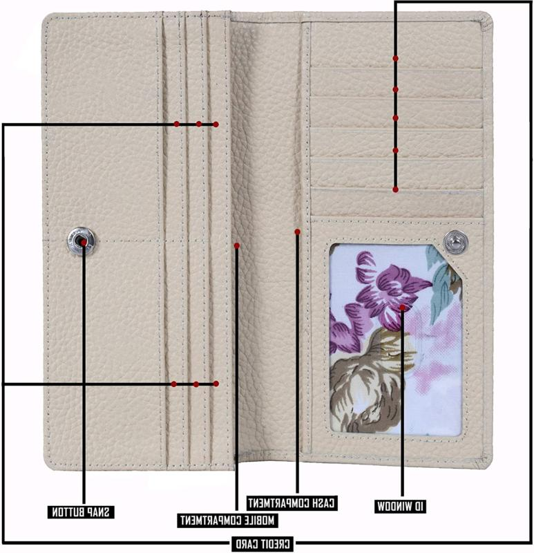 Estalon Women's Clutch-RFID Blocking Large With 11 Card