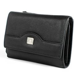 Ladies Compact Leather Trifold - RFID Wallets for Women