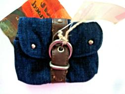 Ladies Denim Wallet Navy & Black