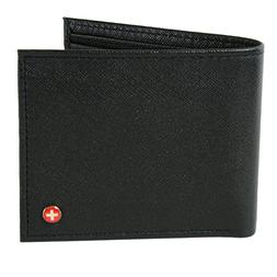 Mens Leather Bifold Wallet Coin Pocket Purse Pouch Alpine Sw