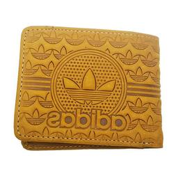 ADIDAS LEATHER BROWN MEN'S FLAP MULTI CREDIT CARD ID HOLDER