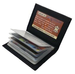 AG Wallets Leather Plastic Inserts Book Credit Card ID Holde