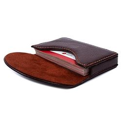 Leather Business Name Card Holder Case Wallet Credit Card Bo