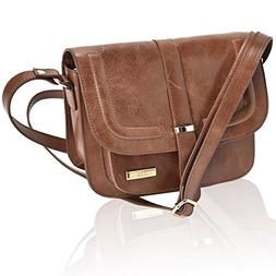 Leather Crossbody Bags For Women - Crossover Purse Over The