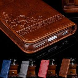 Leather Flip Card Wallet Phone Case Cover Stand for iPhone X