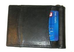 Leather Money Clip / Front Pocket Wallet with Spring for Bil
