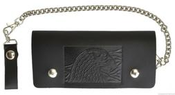 Leather Motorcycle Trucker Biker Chain Wallet With Inside Zi