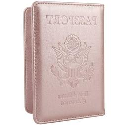 New Leather Passport Cover Holder RFID Blocking Unisex Moder
