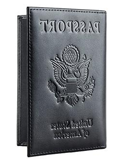 Leather Passport Holder Functional Wallet Cover Case For Tra