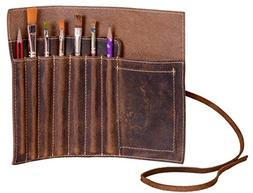 Leather Pen case Pencil Holder Leather Stationary Case Pouch