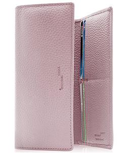 Leather Trifold Clutch Wallets For Women - Ladies RFID Walle