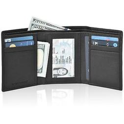 Estalon Men's Trifold Wallet, Slim RFID Handmade, Leather Sm