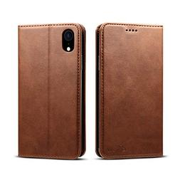 Leather Wallet Case Compatible with Apple iPhone XR 6.1 inch
