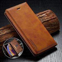 Leather Wallet Magnetic Cover Card Case For iPhone 11 PRO XS