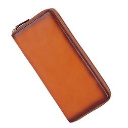 Banuce Leather Wallet Zip Around Long Purse for Men and Wome
