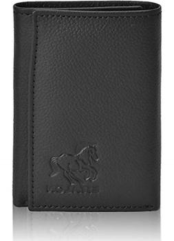 Leather Wallets for Men Front Pocket Tifold with RFID Card H