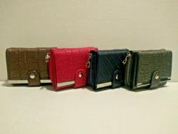 Leather Wallets For Women - Trifold Womens Wallet With Coin
