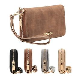 Aitbags Leather Zip Around Wallet for Women Girl Travel Clut