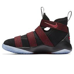 Nike Boys' Lebron Soldier Xi Basketball Shoes Black/Black-Te