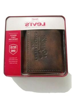Levi's Men's RFID Security Blocking Trifold Wallet