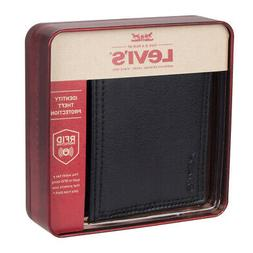 Levi's  Men's  RFID Security Blocking Traveler Wallet,Black