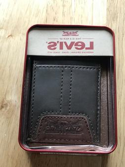 levi s mens leather slim front pocket
