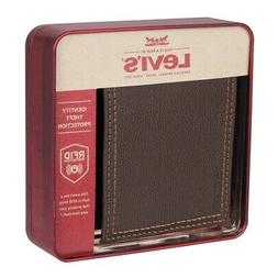 Levi's RFID Extra Capacity Traveler Brown Bifold Leather Wal