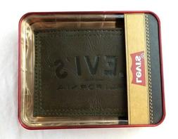 Levi's Men's Wallet Leather Bifold Brown California New