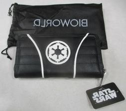 "LICENSED STAR WARS ""EMPIRE"" ZIP AROUND WALLET AND FREE DUST"