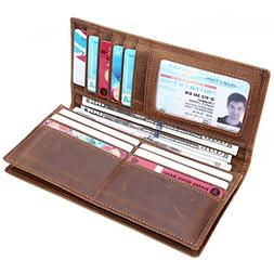 Kinzd Long Wallet Credit Card Holder ID Window Capacity Busi