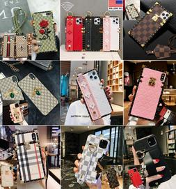 Luxury Pattern Hand Strap Phone Case for iPhone 7/8 Plus X X