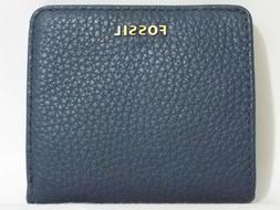 Fossil Madison Bifold Mini Wallet Indian Teal Leather