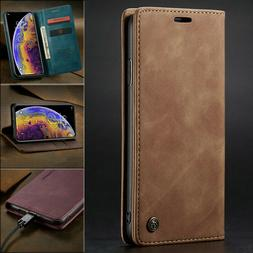 MAGNETIC FLIP COVER Leather Wallet Card Case For iPhone 11 P