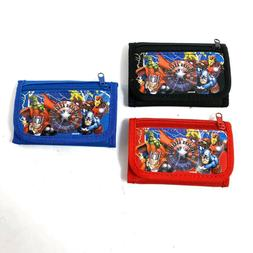 Marvel Avengers Wallet Kids Coin Bag Tri-Fold  Boy Licensed