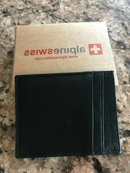 Alpine Swiss  Men's Wallets - Black/Great for Father's Day G
