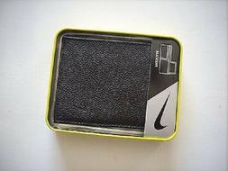 Nike Golf Men Bifold Passcase Id Flip, Genuine Pebble Grain