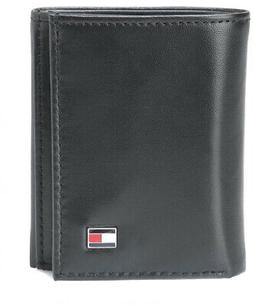 men black oxford trifold leather