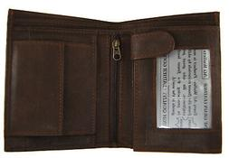 AG Wallets Mens Trifold Wallet 3 ID Slots Coin Pocket Hipste