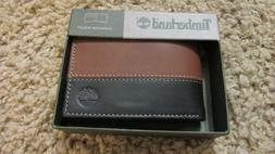 TIMBERLAND Men Genuine Leather Passcase Bifold WALLET New Tw