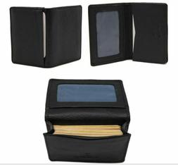 Men Leather Bi-fold Wallets Business Card Holder Case Slim F