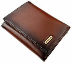 Nautica Men's Leather Credit Card Passcase Wallet Trifold Ta