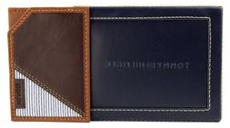 NEW TOMMY HILFIGER MEN'S LEATHER CREDIT CARD WALLET BILLFOLD