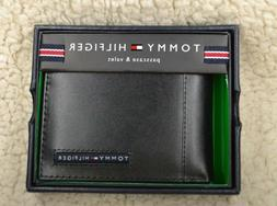 Tommy Hilfiger Men's Leather Credit Card Wallet Billfold Bla