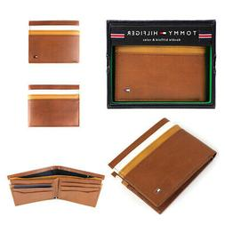 NEW TOMMY HILFIGER MEN'S LEATHER DOUBLE BILLFOLD ID WALLET H