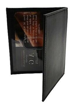 AG Wallets Mens Slim Cow Leather Bifold 2 ID Wallet Holder D